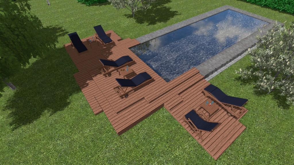 Progettiamo giardini di lusso e design frullani group for Rendering giardino