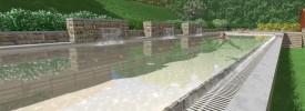 Rendering-piscina-giochi-acqua-cascata